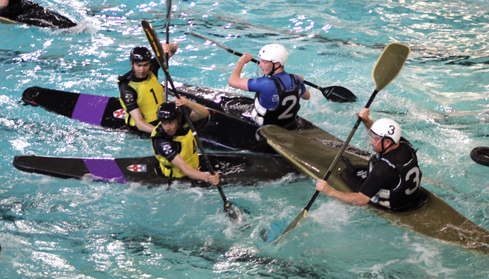 MAD Canoe Polo team in action