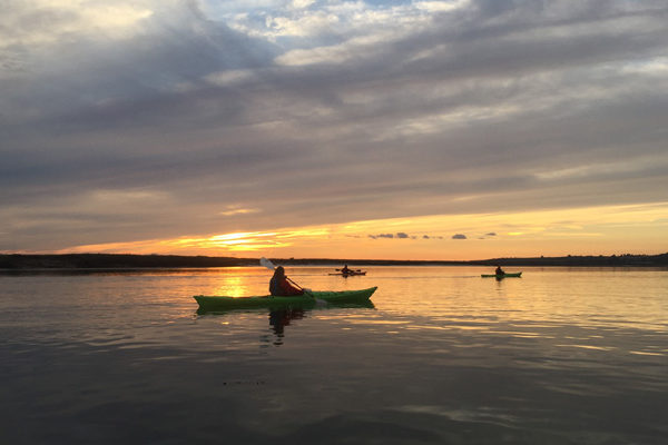 Sea Kayaking in Burnham on Crouch sunset
