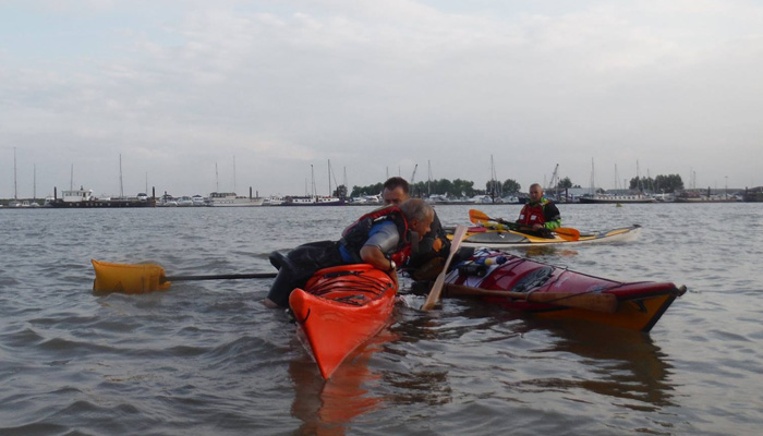 Sea Kayak rescue at Burnham on Crouch