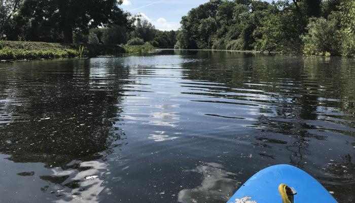 Maldon Canoe Paddler on the river