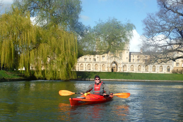 Roger paddling the Cambridge Backs