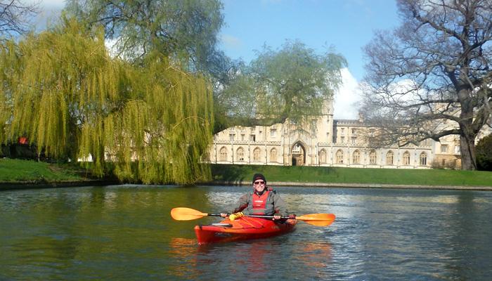 Roger paddling the Cambridge Backs