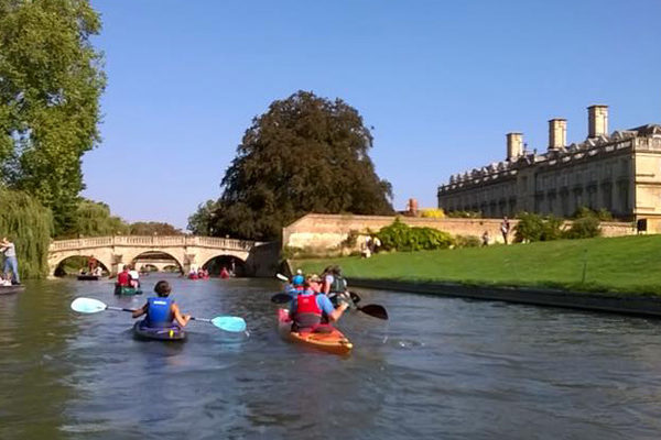 MCC paddling the Cambridge Backs
