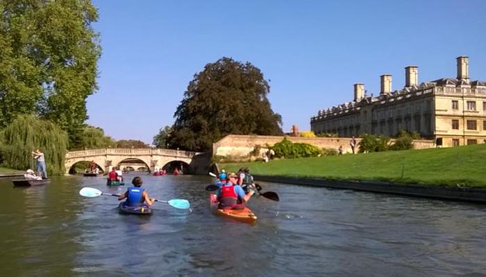 MCC paddling the Cambridge Backs