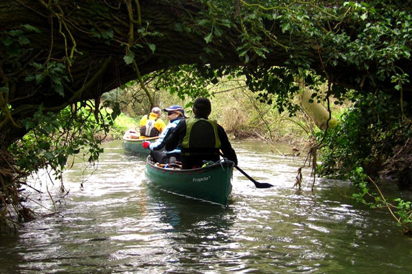 Open boat paddling on the Blackwater Tour