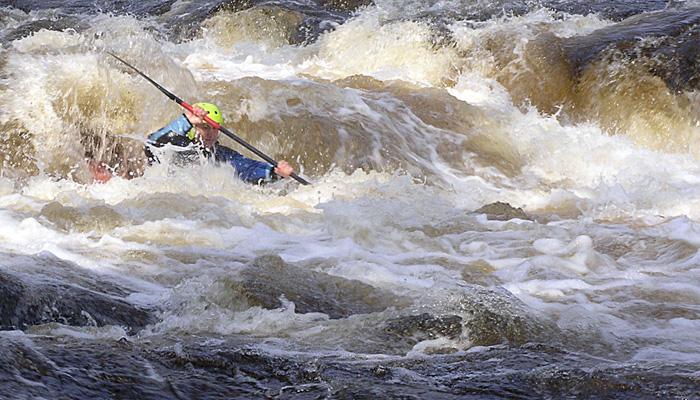 Clive Marfleet paddling Bala Mill Falls