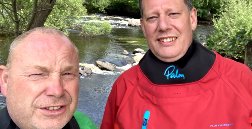 Del and Adrian on the Dee